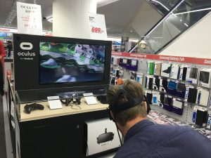 Trying out the Oculus Rift at Mediamarkt Köln where the lines were short :wink: